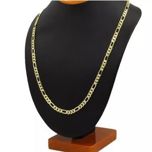 """14K Gold Stamped Figaro Necklace Chain 30"""""""